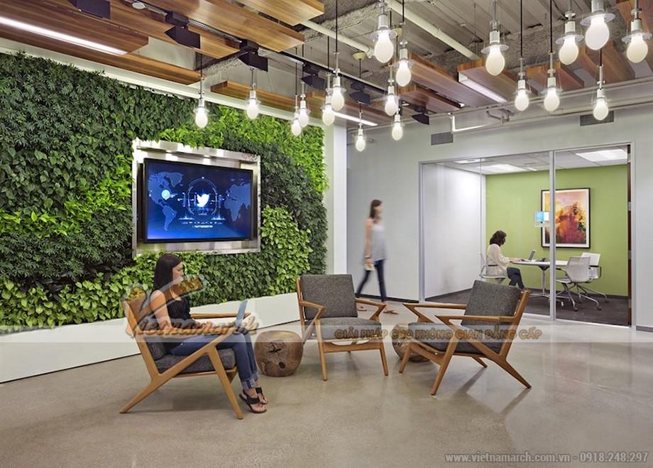 Trang trí văn phòng bằng đèn trang trí