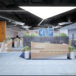 Thiết kế văn phòng làm việc công ty truyền thông GNG phá cách chuyên nghiệp
