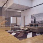 Ý tưởng thiết kế văn phòng đương đại với tông màu xám cho văn phòng điện tử