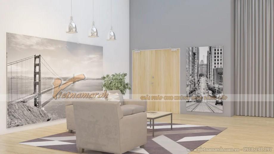 thiết kế văn phòng đương đại với tông màu xám cho văn phòng điện tử