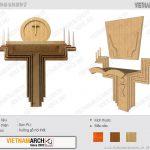Bộ sưu tập Mẫu bàn thờ Công giáo đơn giản nhưng vô cùng tinh tế
