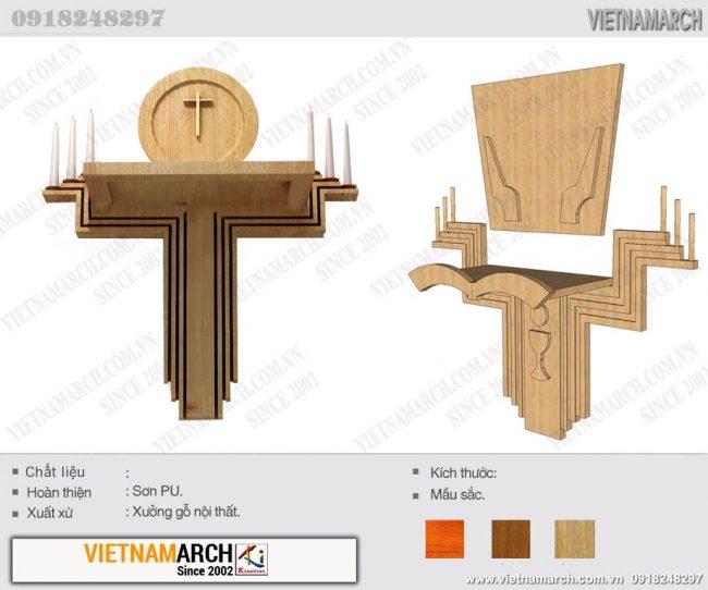 Mẫu bàn thờ Chúa gắn tường