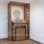 Mẫu bàn thờ tủ thờ gỗ xoan đào đẹp có ưu điểm gì?