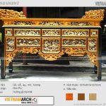 15 mẫu bàn thờ ô xa – nét đẹp tinh hoa văn hóa Việt