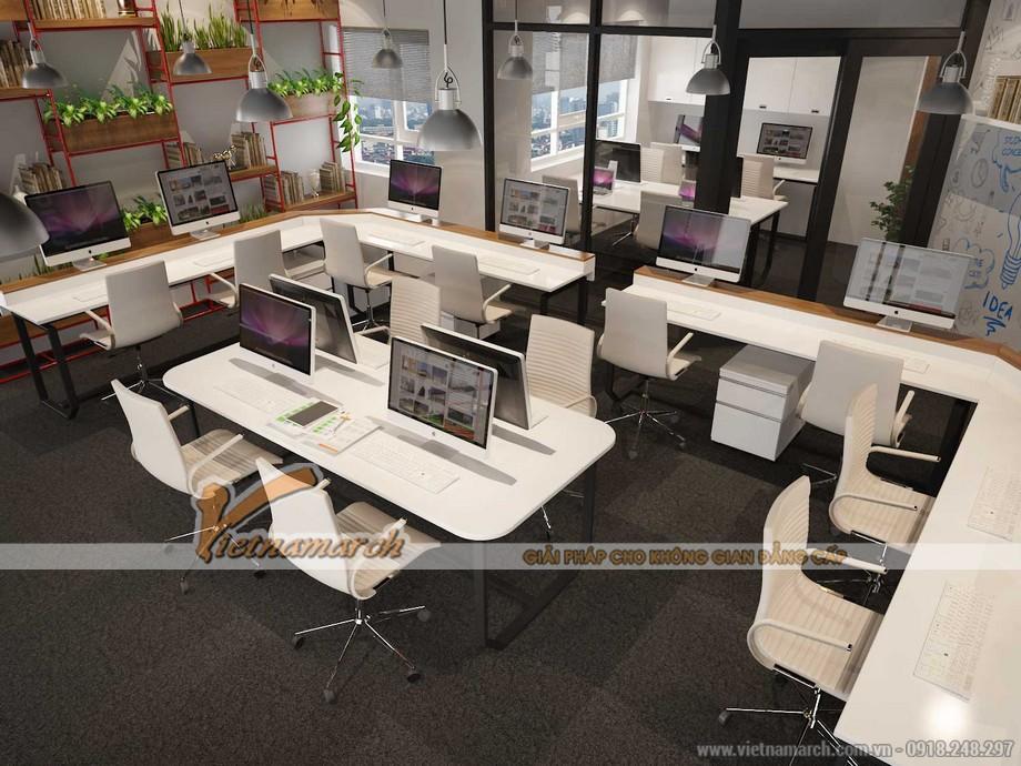 Bản vẽ thiết kế văn phòng làm việc EGM Media