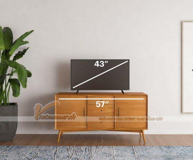 Kích thước kệ tivi theo kích thước tivi