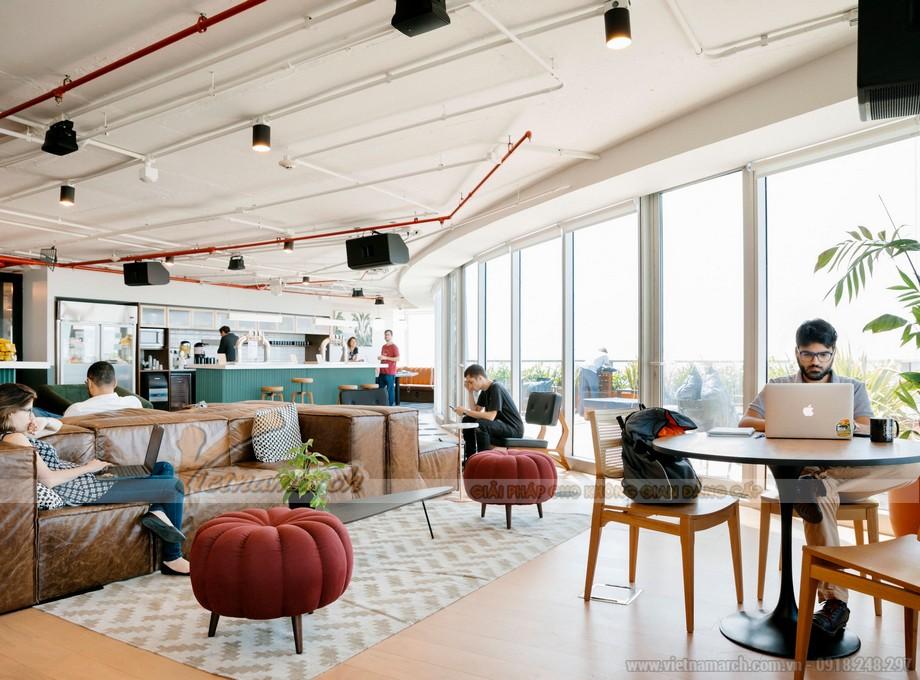 Không gian coworking space theo phong cách quán cà phê