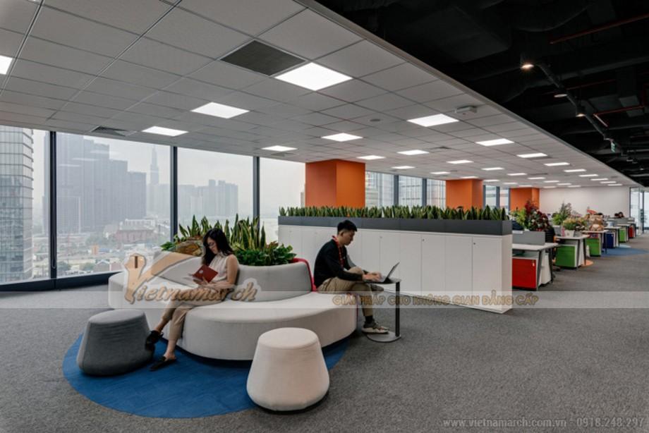 Mẫu thiết kế nội thất văn phòng công nghệ thực phẩm Foody HCM