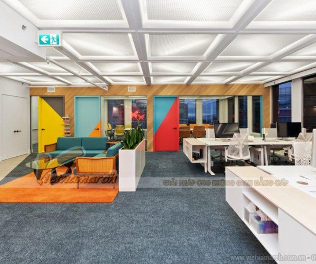 Sức hấp dẫn của mẫu thiết kế văn phòng công ty thương mại hiện đại và độc đáo