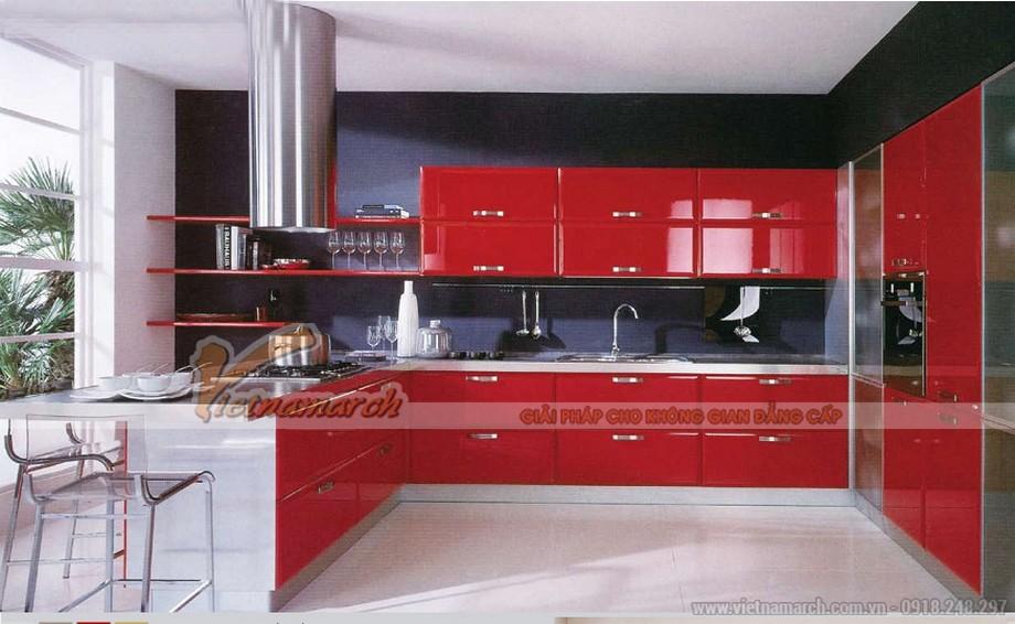 Tủ bếp cho gia chủ mệnh Hỏa