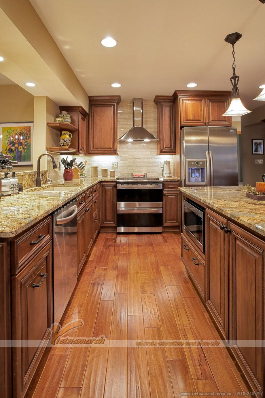 Tủ bếp cho gia chủ mệnh Thổ