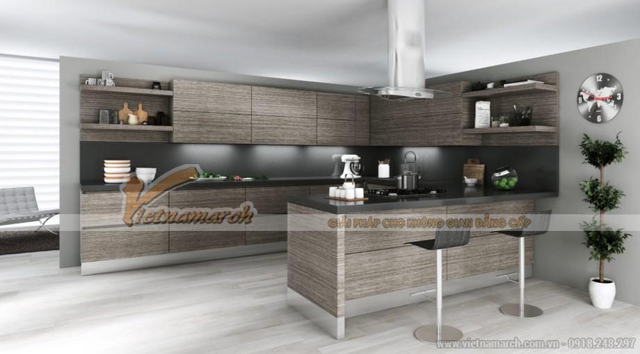 Mẫu tủ bếp gỗ LAMINATE