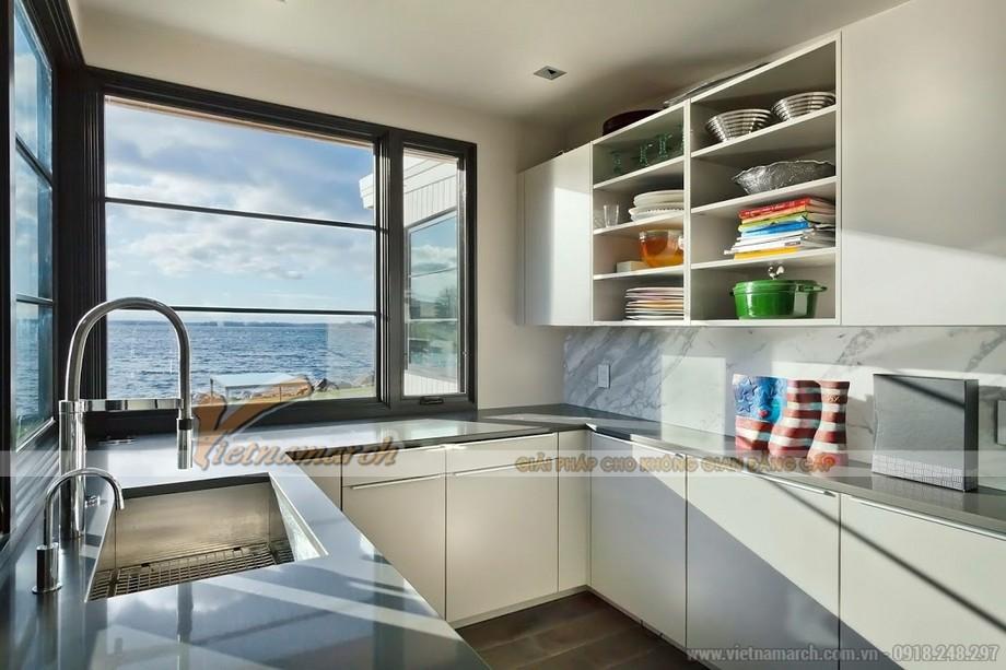Mẫu tủ bếp dành cho căn hộ chung cư hiện đại