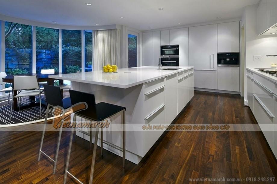 Mẫu tủ bếp thông minh tạo nên thiết kế nhà bếp chuẩn hiện đại