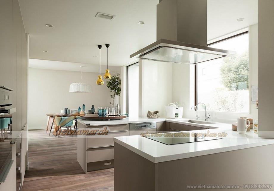 Mẫu tủ bếp dành cho không gian bếp nhỏ hẹp