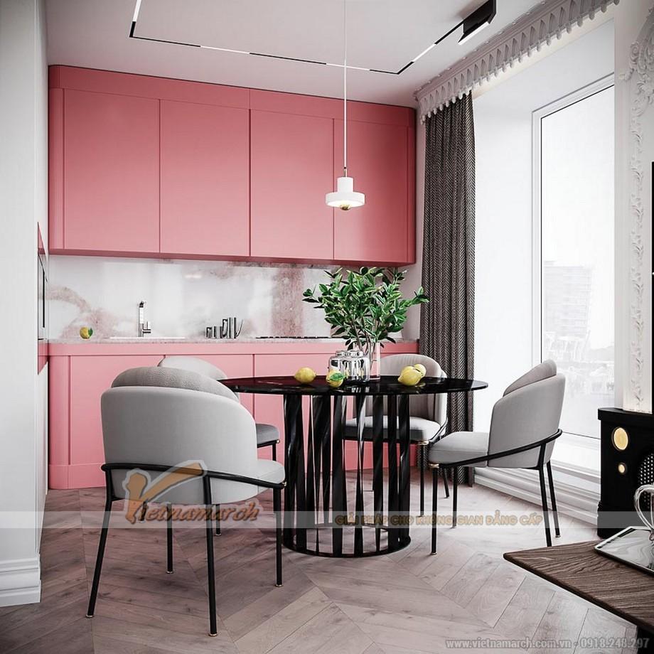 Tủ bếp màu pastel dịu dàng và tươi mới