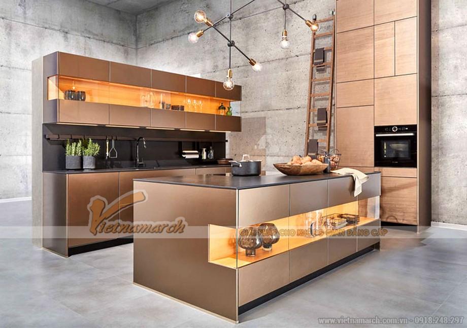 tủ bếp kim loại - Mang đến vẻ ngoài quyến rũ