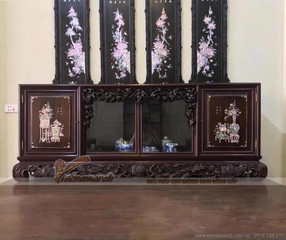 mẫu tủ chè gỗ gụ đẹp