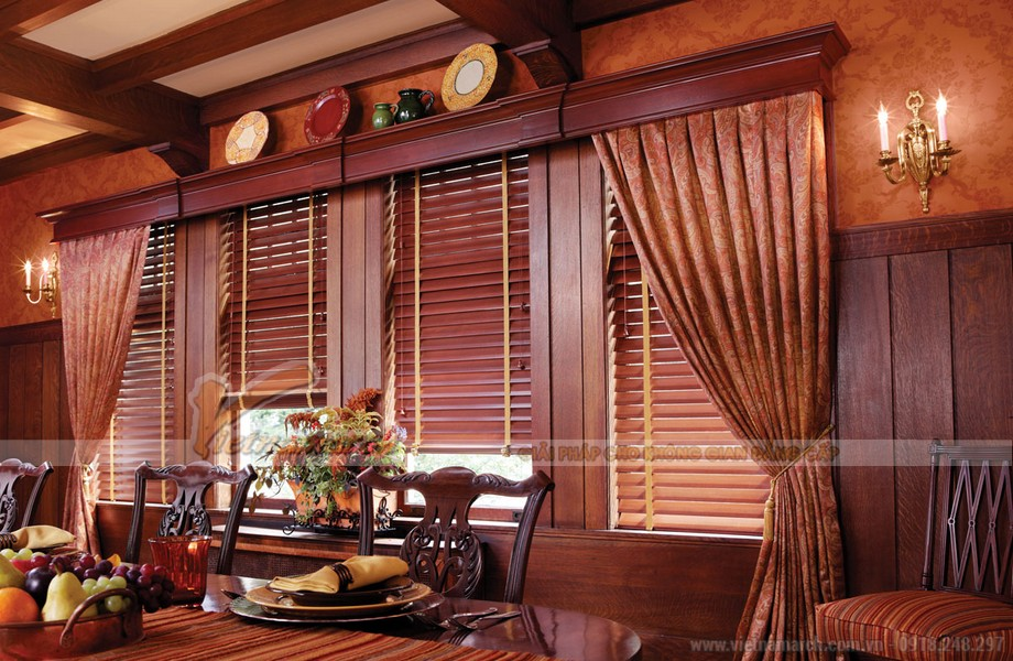 Rèm sáo gỗ - mẫu rèm sang trọng và cổ điển