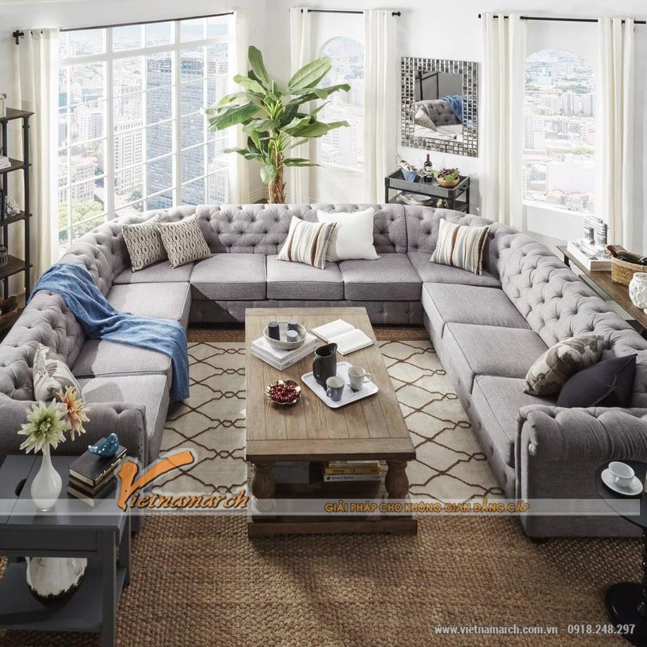 Sofa góc cổ điển loại chữ U