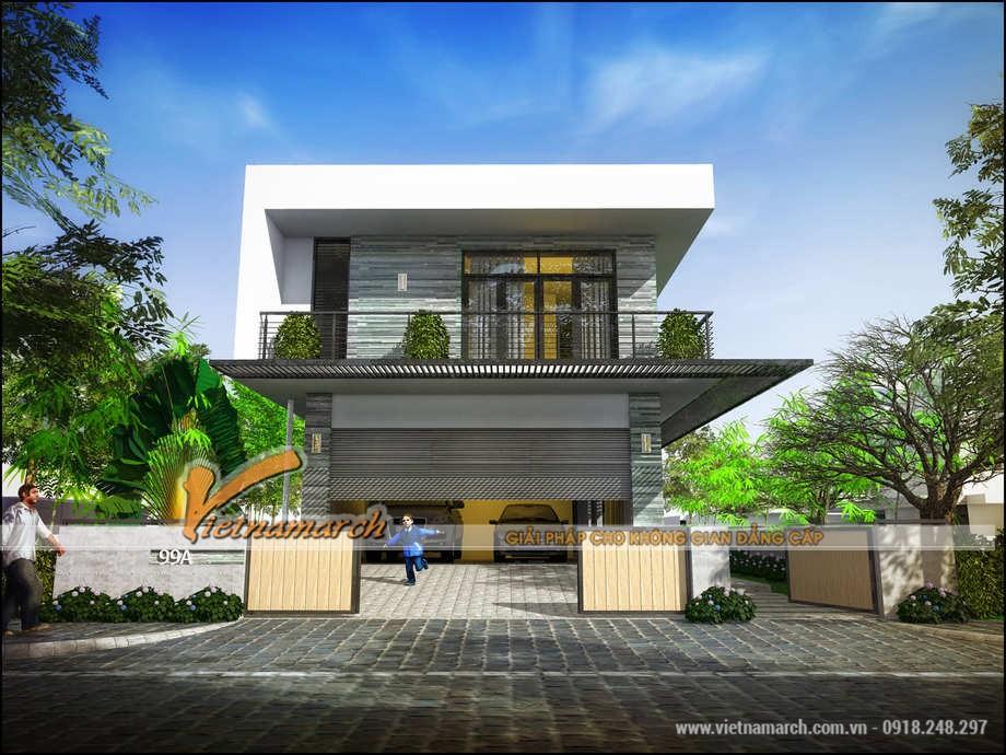 thiết kế biệt thự 2 tầng 7x18m 1
