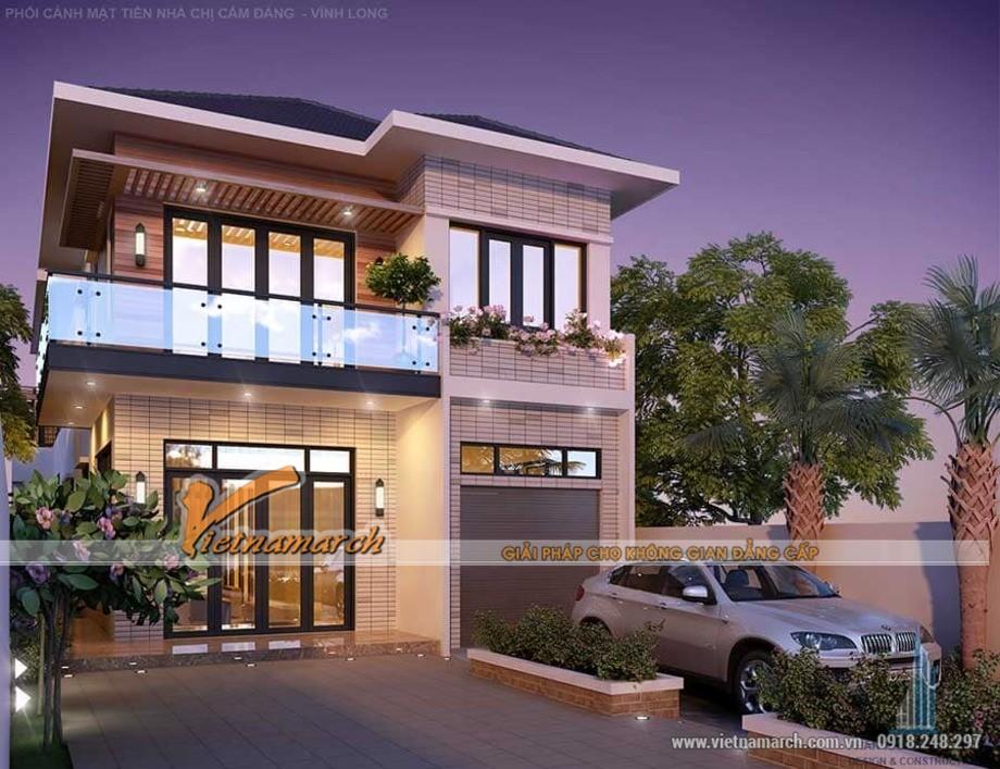 Thiết kế biệt thự 2 tầng 7x18m đẹp đúng chuẩn hiện đại
