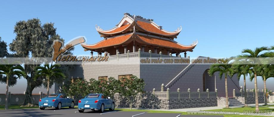 Thiết kế chùa 2 tầng tại Nghệ An