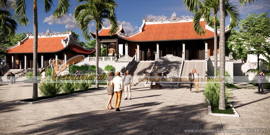 Phối cảnh 3D công trình thiết kế đình chùa tại Ninh Bình