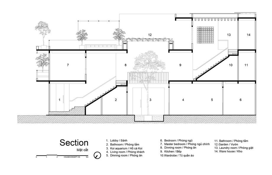 Bản vẽ thiết kế mặt bằng của dự án văn phòng kết hợp nhà ở Snow House