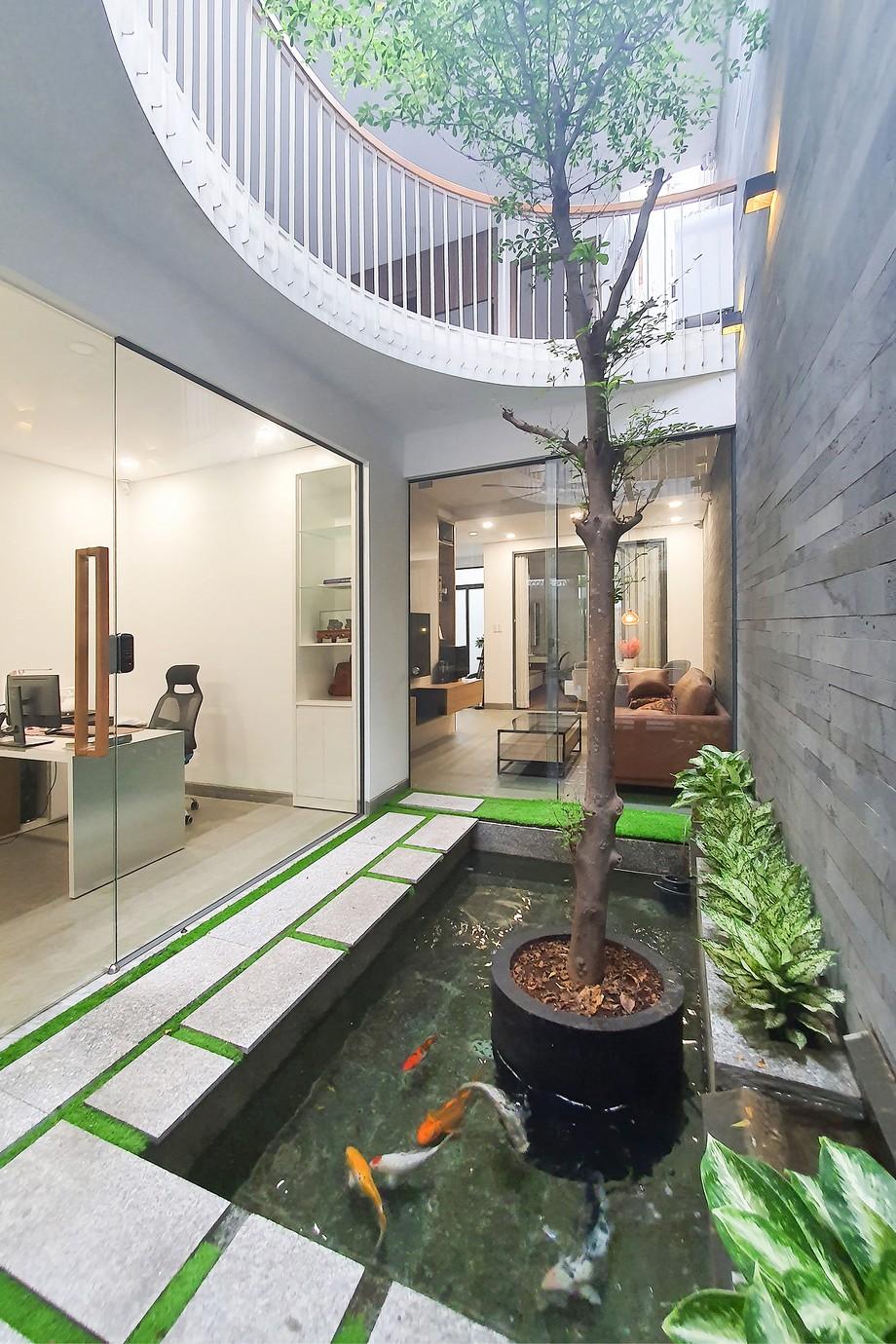 Không gian phòng khách lý tưởng kết hợp phòng chờ văn phòng