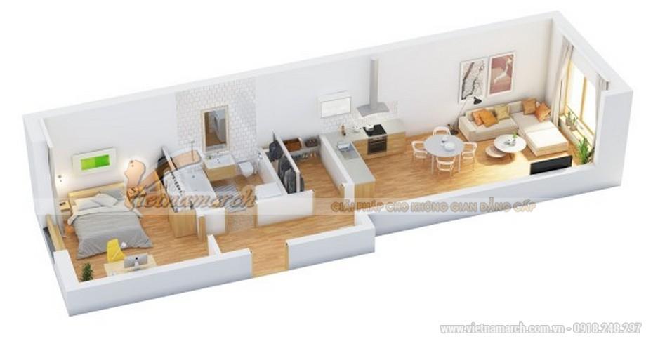 Thiết kế nhà phố có phòng ngủ tầng trệt
