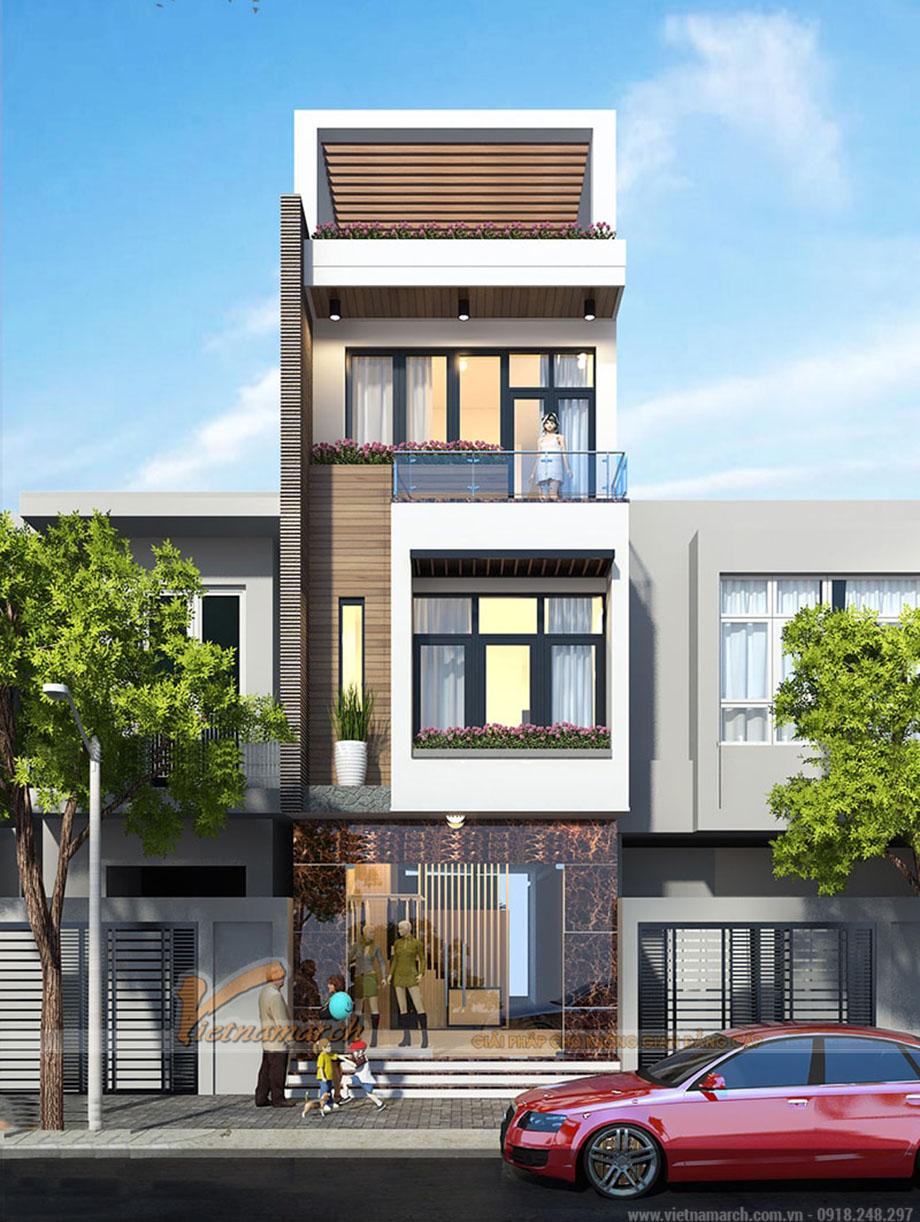Thiết kế nhà phố có phòng ngủ ở tầng trệt