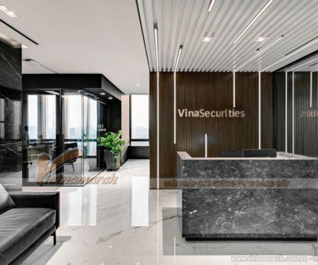 Thiết kế văn phòng chứng khoán Vina Securities tại thành phố HCM