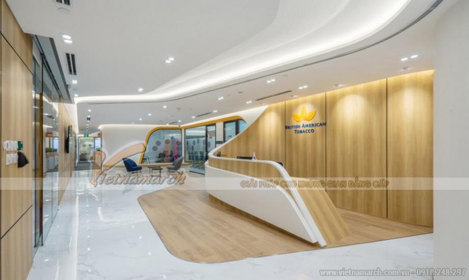 Mẫu thiết kế văn phòng công ty thuốc lá Anh Mỹ Hồ Chí Minh