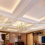 Trần thạch cao ô vuông có phù hợp để lắp đặt cho phòng khách nhà bạn?