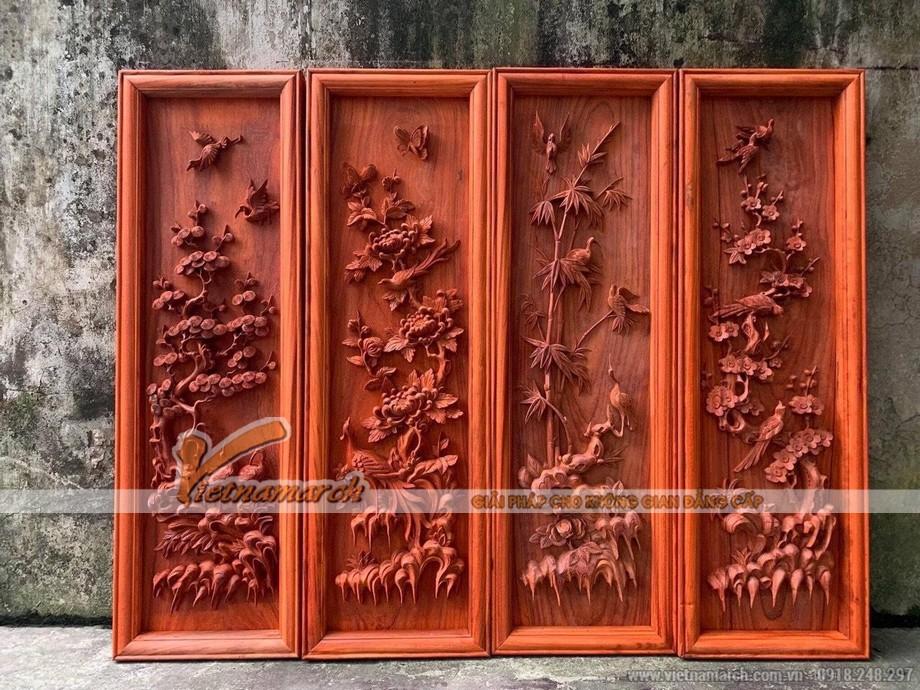 Tranh gỗ phòng thờ đẹp