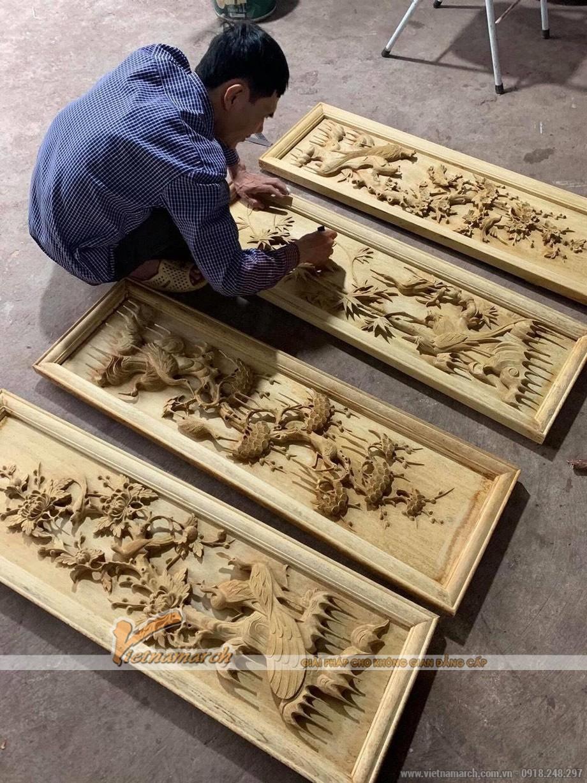 quy trình làm tranh điêu khắc gỗ