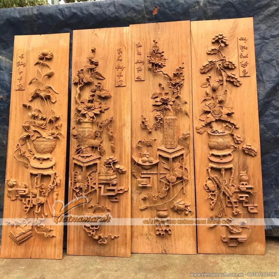 Tranh gỗ phòng khách phòng thờ đẹp