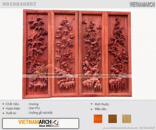 Vietnamarch - Xưởng sản xuất tranh gỗ phòng khách, phòng thờ đẹp