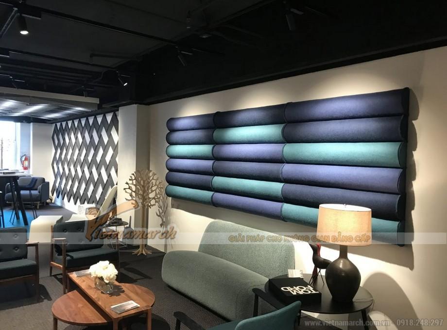 Thiết kế văn phòng đơn sắc tông xanh dương