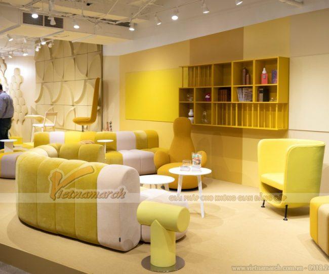 Văn phòng theo lối thiết kế đơn sắc tông vàng