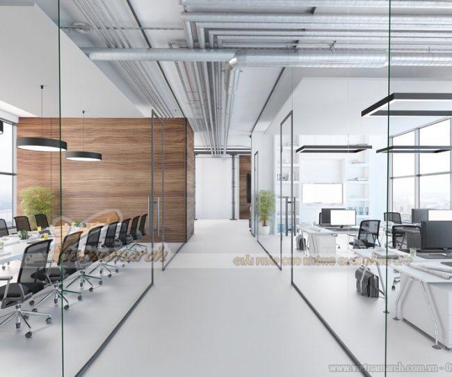 Vách ngăn văn phòng bằng kính cường lực
