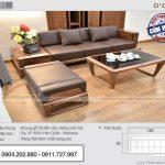 Sofa gỗ sồi phun màu óc chó cho phòng khách nhỏ SFG-01