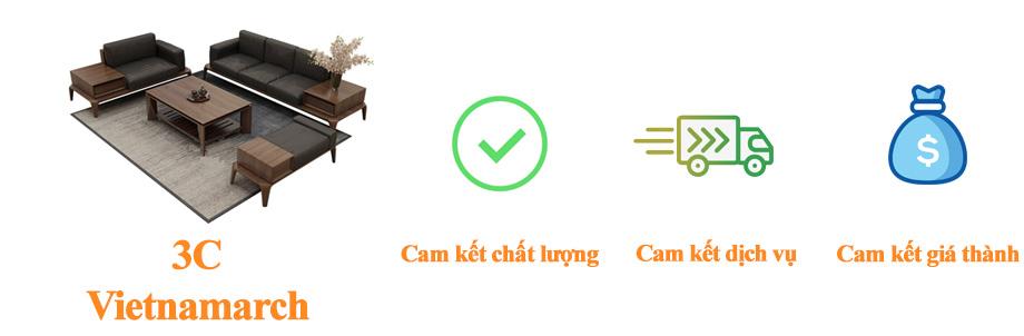 Sofa gỗ sồi giả óc chó vietnamarch