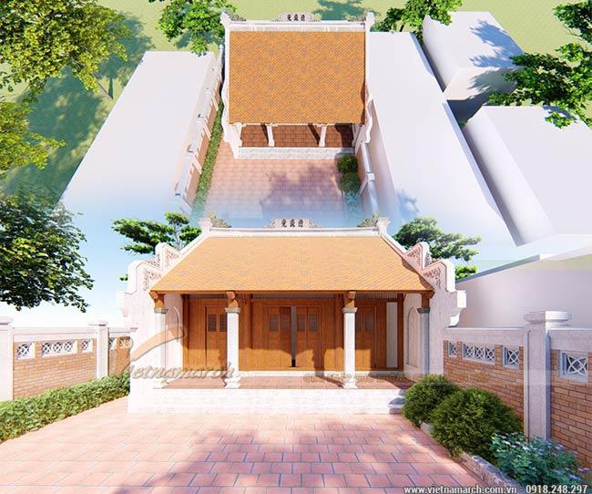 File thiết kế nhà thờ họ 5 gian tại Đan Phượng chuẩn phong thủy