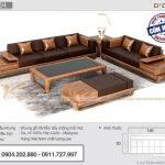 Mẫu sofa gỗ sồi chữ L hiện đại – Mã SFG-04