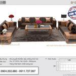 Sofa gỗ sồi chữ U cao cấp – Mã SFG-02