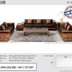 Mẫu sofa gỗ sồi tay trứng cho phòng khách cao cấp – Mã SFG-05