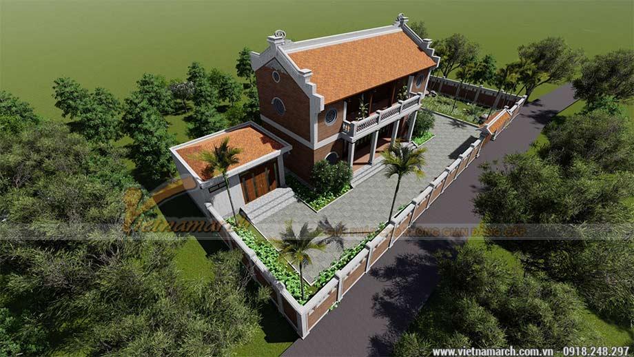 Thiết kế nhà thờ họ 2 tầng ở Cao Bằng