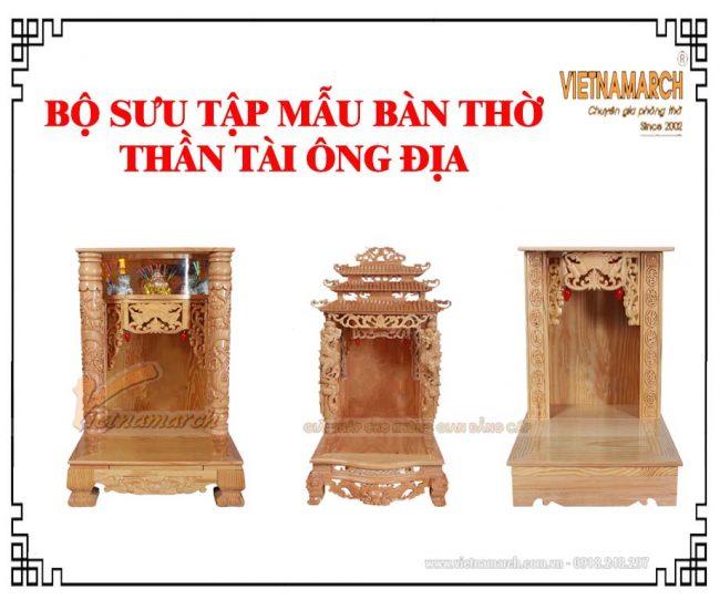 Bộ sưu tập mẫu bàn thờ thần tài đẹp giá rẻ